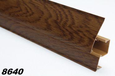 [Paket] 10 Meter PVC Sockelleisten Modern, Fußleisten, Kabelkanal, Sockel 23x65mm, 8640