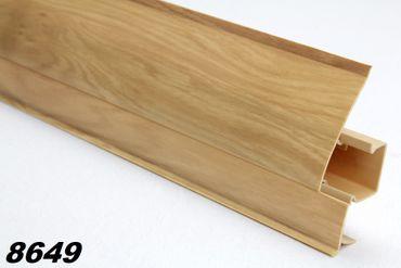 [Paket] 30 Meter PVC Sockelleisten Modern, Fußleisten, Kabelkanal, Sockel 23x65mm, 8649