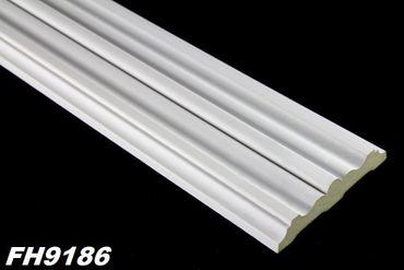 [Sparpaket] 40 Meter PU Flachprofile Leisten Wand Dekor Stuck stoßfest 96x21mm, FH9186