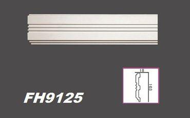 [Paket] 10 Meter PU Flachprofile Leisten Wand Dekor Stuck stoßfest 103x18mm, FH9125