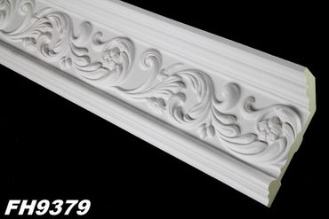 [Paket] 18,8 Meter PU Zierleisten Profile Innen Dekor Stuck stoßfest 152x65mm, FH9379