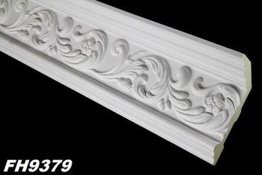 [Sparpaket] 47 Meter PU Zierleisten Profile Innen Dekor Stuck stoßfest 152x65mm, FH9379