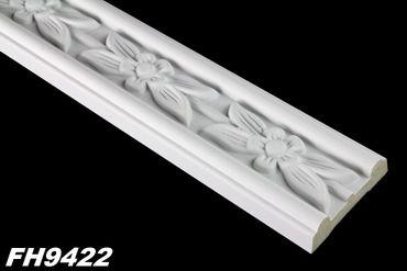1,9 Meter PU Flachleiste Profil Innen Dekor Stuck stoßfest 50x17mm, FH9422