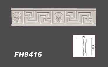 1,8 Meter PU Flachleiste Profil Innen Dekor Stuck stoßfest 110x20mm, FH9416