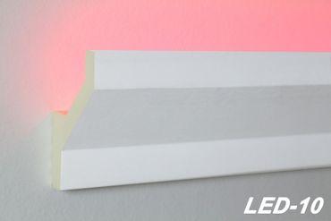 [Paket] 100 Meter PU Stuckprofil Stuckleiste Lichtleiste LED Stuck stoßfest 75x45 LED-10