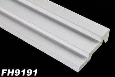 [Paket] 20 Meter PU Flachprofile Leisten Wand Dekor Stuck stoßfest 103x32mm, FH9191