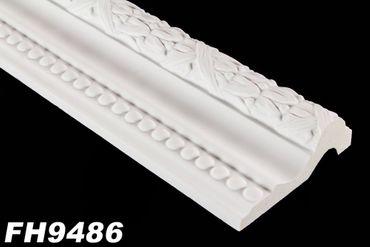 [Paket] 98 Meter PU Flachleisten Profile Innen Dekor Stuck stoßfest 105x35mm, FH9486