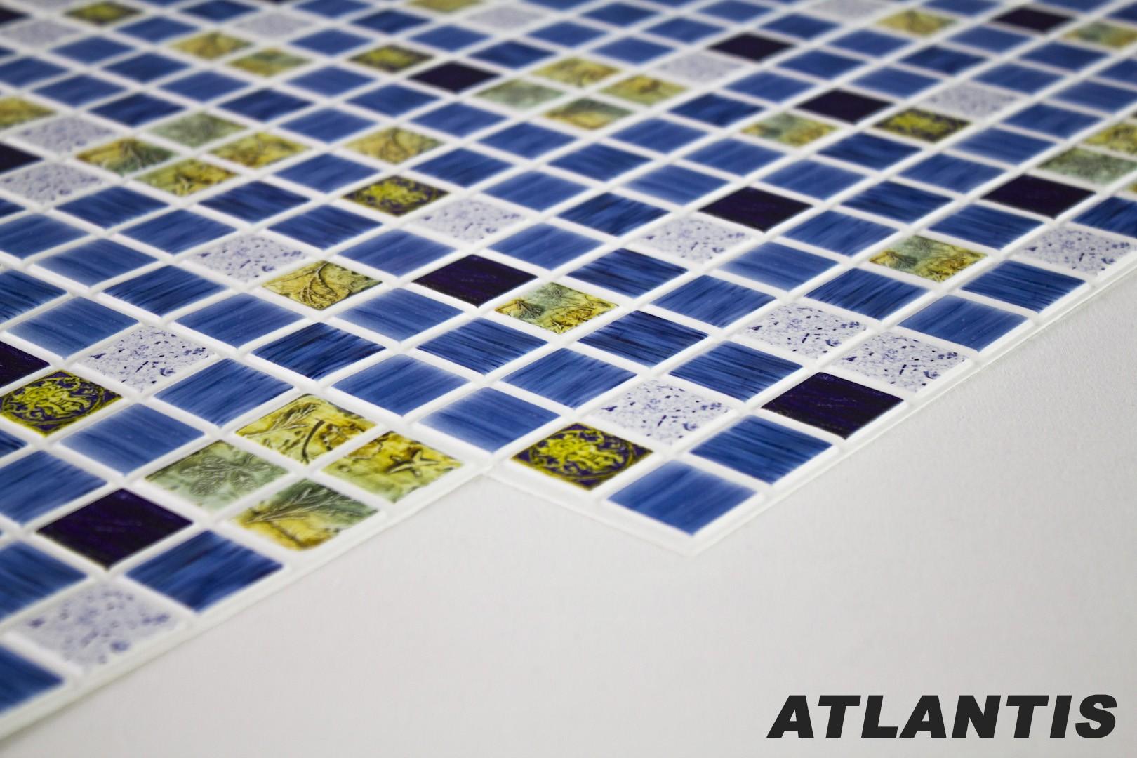 1 PVC Dekorplatte Mosaic Wandverkleidung Platten Wand Innen 95x48cm,  ATLANTIS