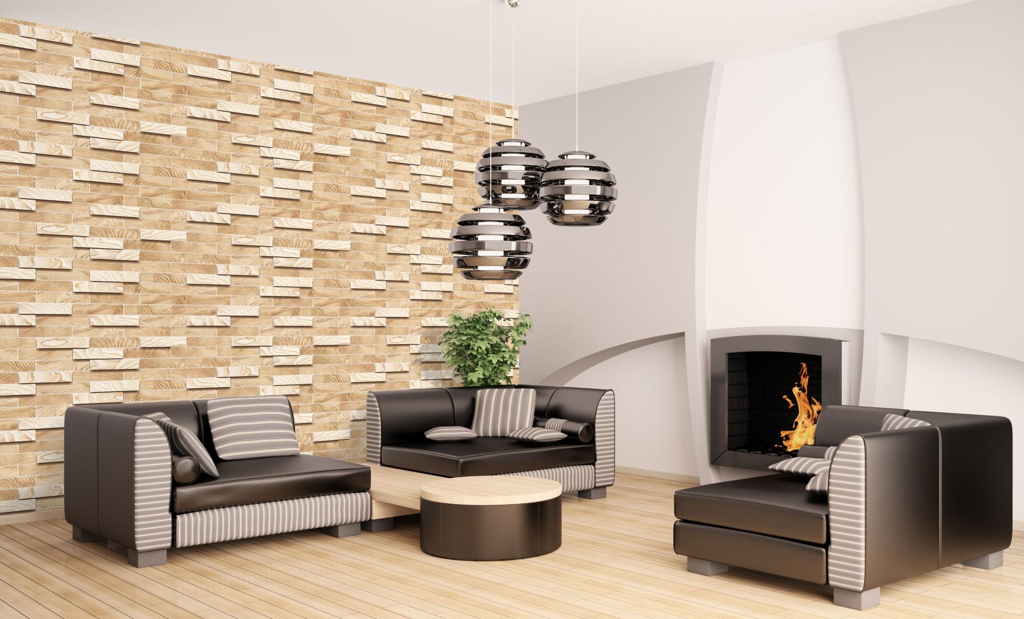 1 PVC Dekorplatte Mosaic Wandverkleidung Platten Wand 98x48cm, ALDER