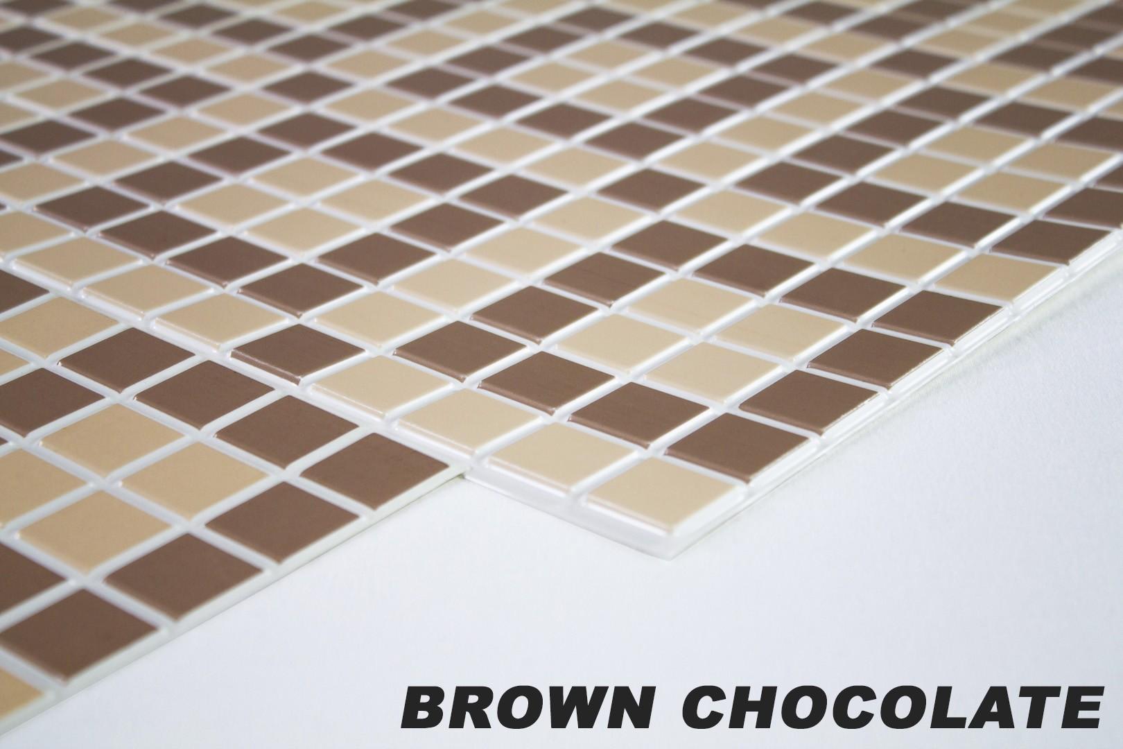 1 pvc dekorplatte mosaic wandverkleidung platten wand 95x48cm brown chocolate wand dekormosaic. Black Bedroom Furniture Sets. Home Design Ideas
