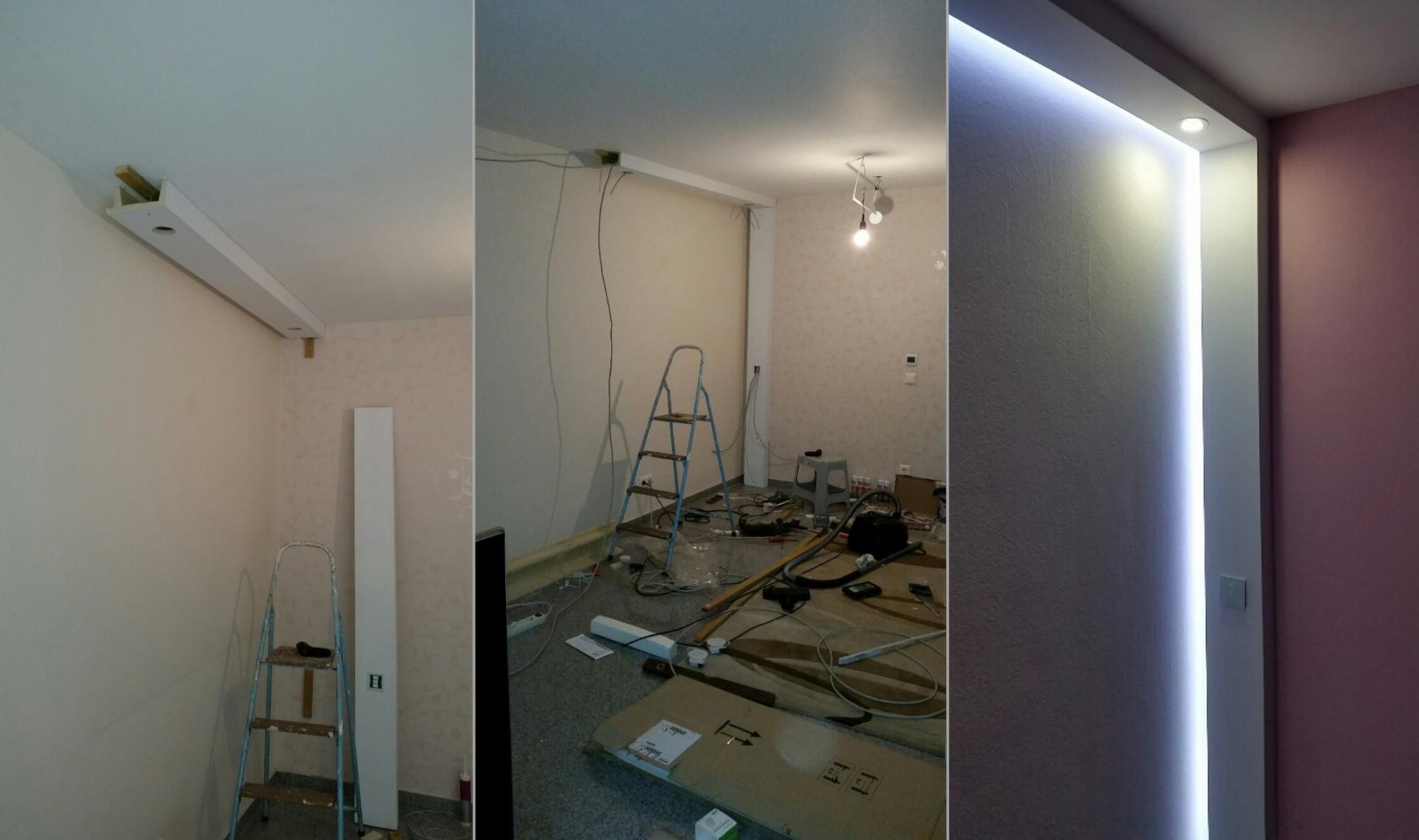 2 meter pu spots kasten led leuchten stuck deckenprofil. Black Bedroom Furniture Sets. Home Design Ideas