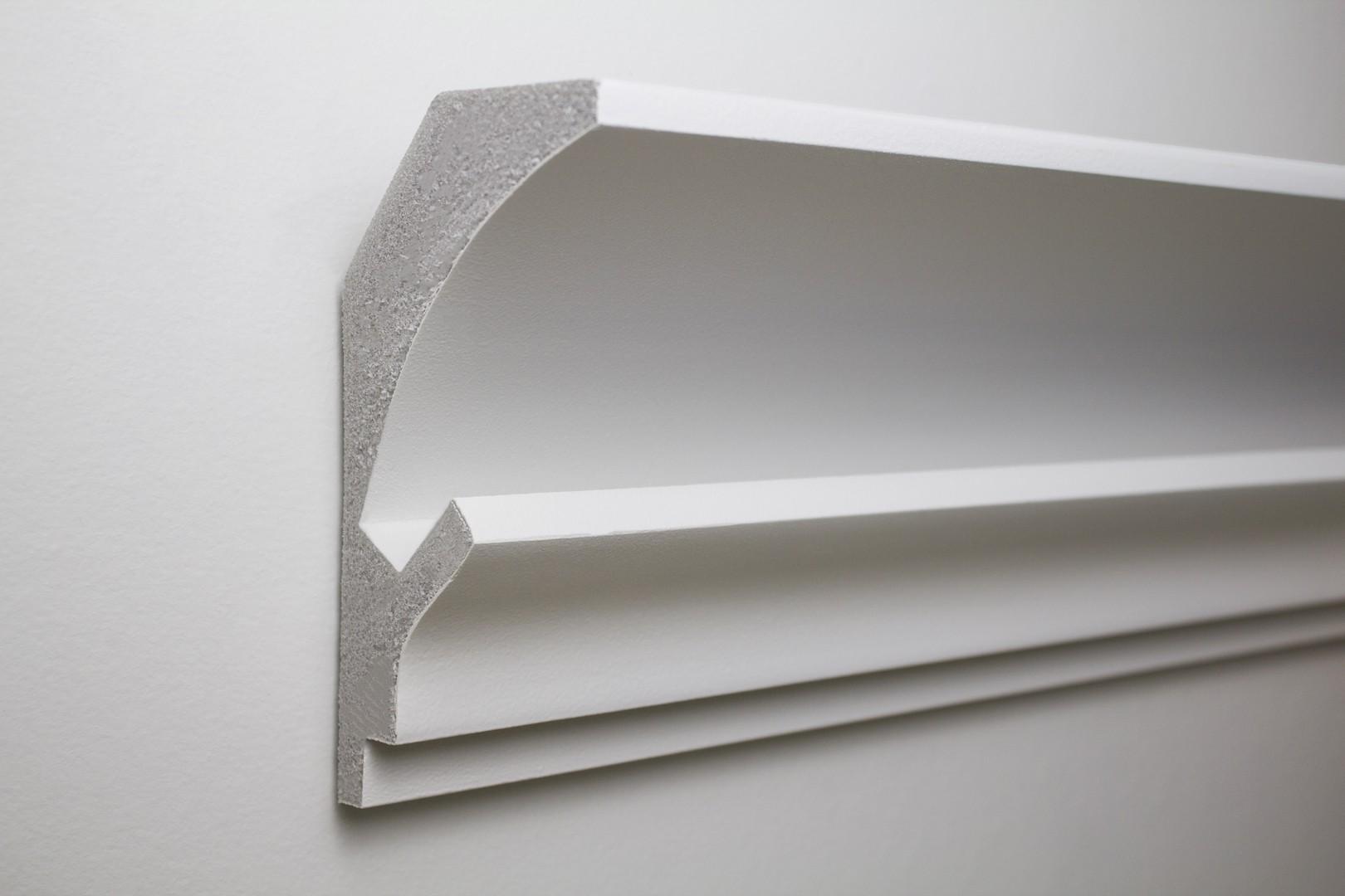 1 15 meter led stuckleiste f r indirekte beleuchtung xps 150x90 kd202 led rigipsprofile. Black Bedroom Furniture Sets. Home Design Ideas