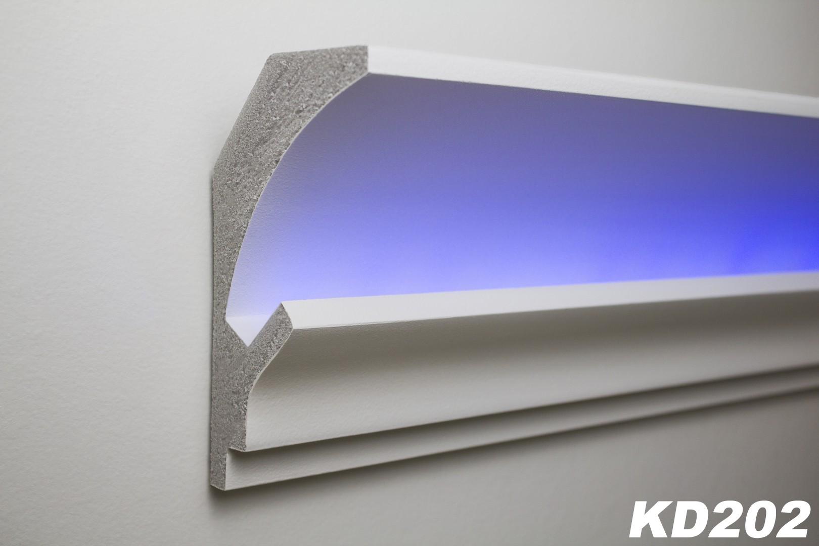 Charming 1,15 Meter LED Stuckleiste Für Indirekte Beleuchtung XPS 150x90mm, KD202