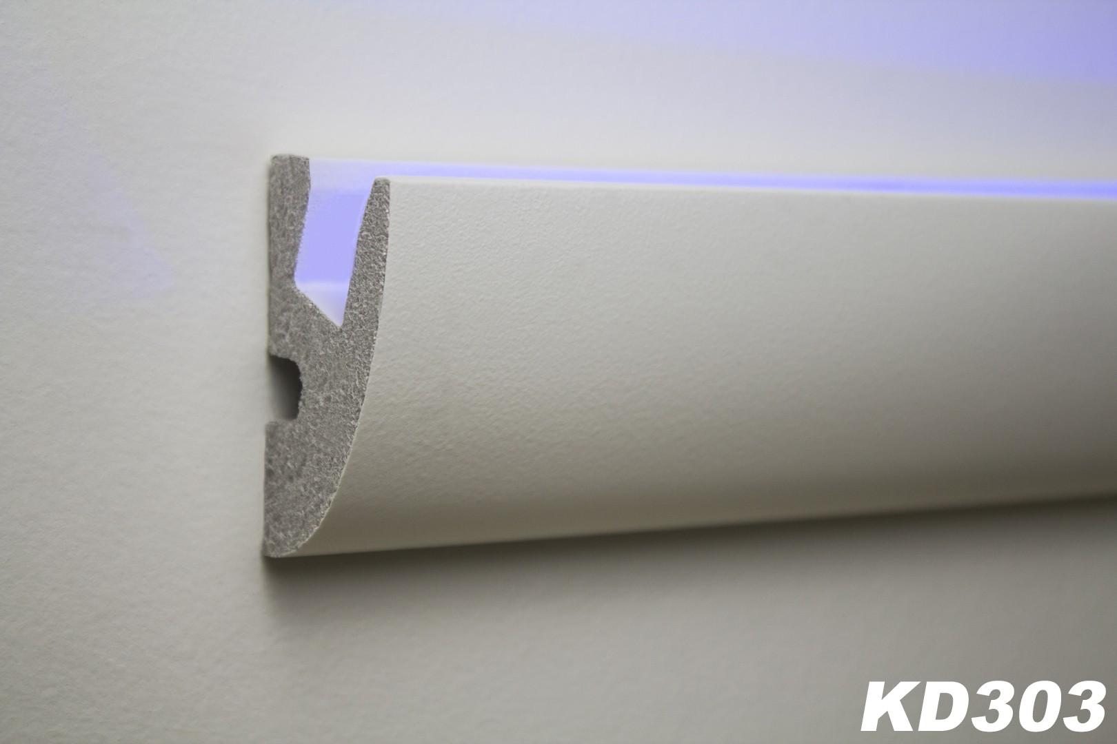 1 15 meter led stuckleiste f r indirekte beleuchtung xps 65x40 kd303 led rigipsprofile. Black Bedroom Furniture Sets. Home Design Ideas