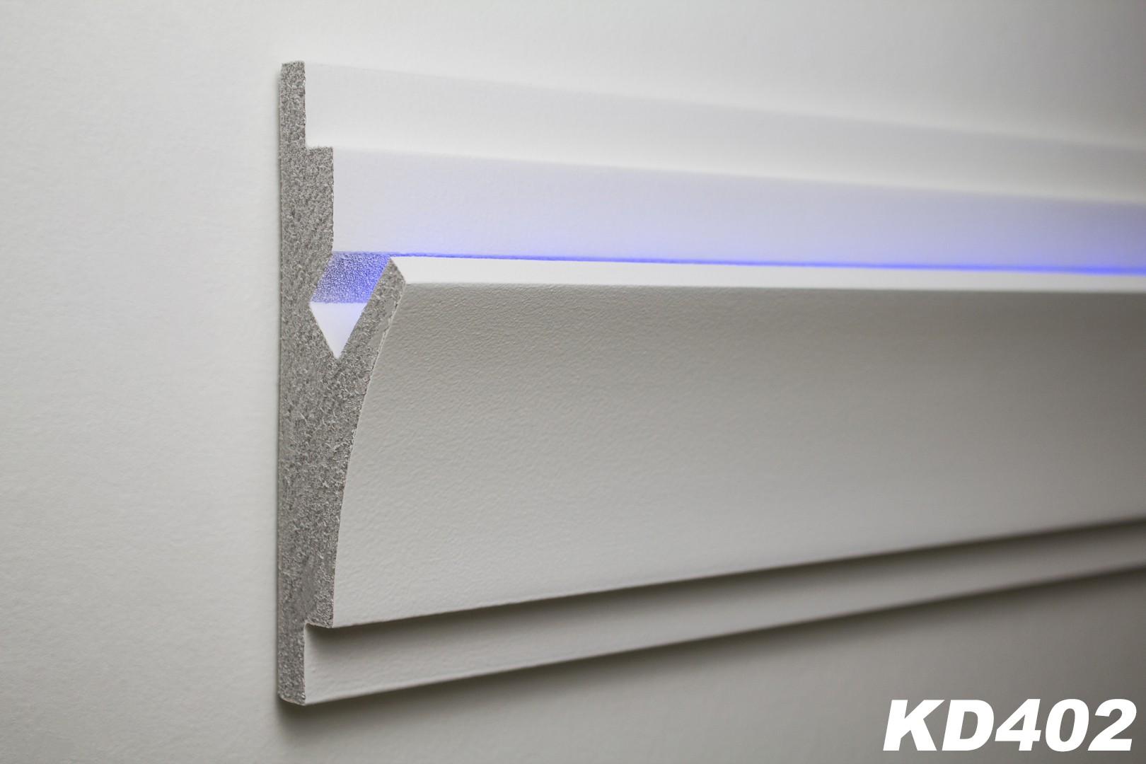 1 15 meter led stuckleiste f r indirekte beleuchtung xps 150x55 kd402 led rigipsprofile. Black Bedroom Furniture Sets. Home Design Ideas