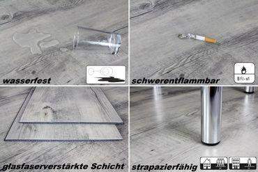 2,12 m² Vinyldielen in 4,2mm Klick Kunststoffboden Nutzschicht 0,3mm, HPG6385-3