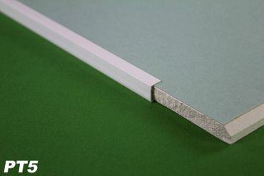 [Sparpaket] 10 Meter PVC Kantenprofil für Gipskarton Platten Rigips 12,5mm Einfassprofil PT5