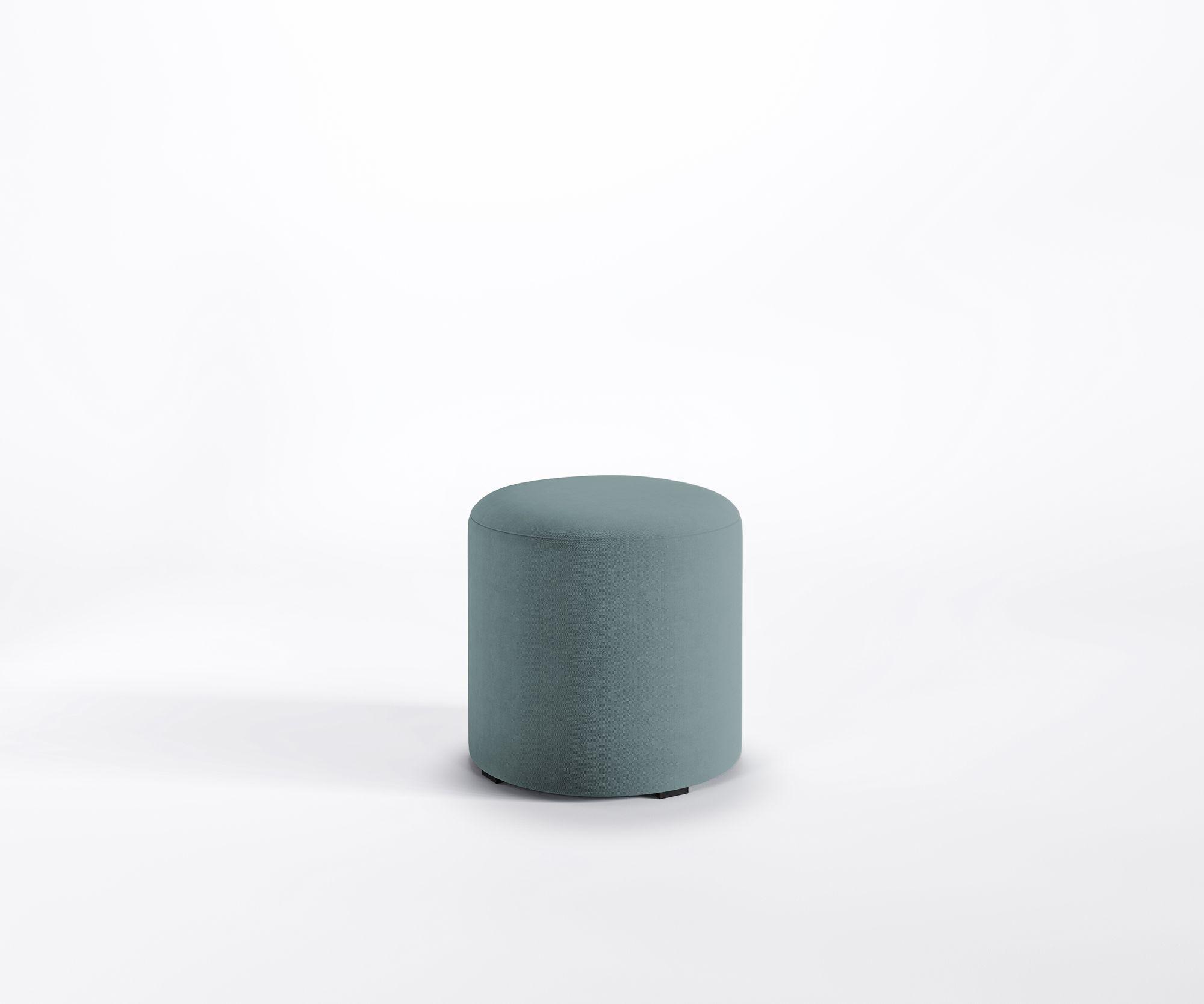 Designer Hocker Mia Roller Lounge Sitzpouf Fußstütze Polster