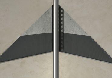 [Paket] 50 Meter Edelstahl Randfugenprofile Innenecke Hohlkehle gebürstet 10mm HEX840 SI