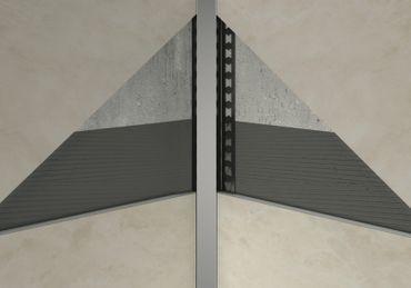 [Paket] 50 Meter Edelstahl Randfugenprofile Innenecke gerade Fliesen 10mm, HEX860 SI