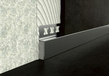 [Sparpaket] 10 Meter Edelstahl Sockelprofile Trennprofile Fliesenschienen 12mm, HEX940 SI