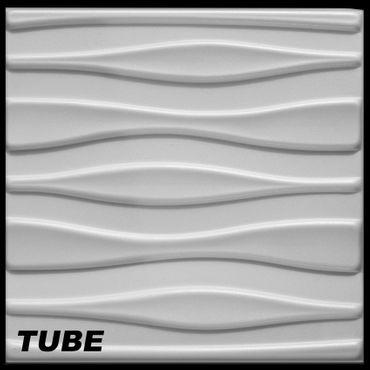 [Paket] 50 m² Platten 3D Polystyrol Wand Decke Paneele Wandplatten 50x50cm, TUBE