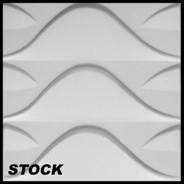 [Paket] 10 m² Platten 3D Polystyrol Wand Decke Paneele Wandplatten 50x50cm, STOCK