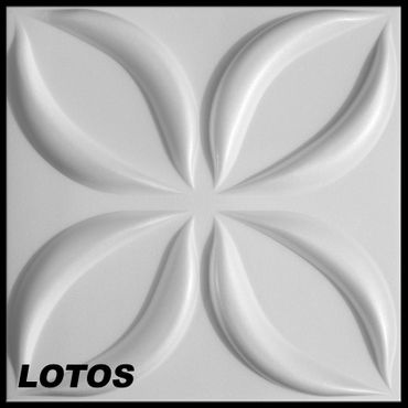 [Paket] 15 m² Platten 3D Polystyrol Wand Decke Paneele Wandplatten 50x50cm, LOTOS