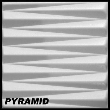 [Sparpaket] 10 m² Platten 3D Polystyrol Wand Decke Paneele Wandplatten 50x50cm, PYRAMID