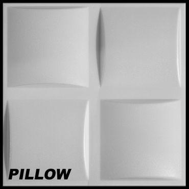 [Paket] 15 m² Platten 3D Polystyrol Wand Decke Paneele Wandplatten 50x50cm, PILLOW