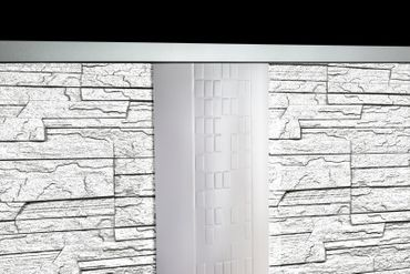 [Sparpaket] 20 m² EPS Dekorsteine Wandverkleidung Steinplatten Bruchsteine, STONE WEIß