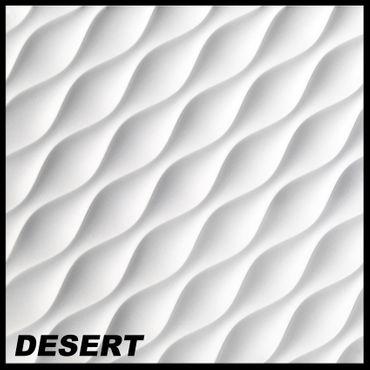 [Sparpaket] 19,5 m² Platten 3D Paneele Wandpaneele Dekoration Wandplatten 60x60cm, DESERT