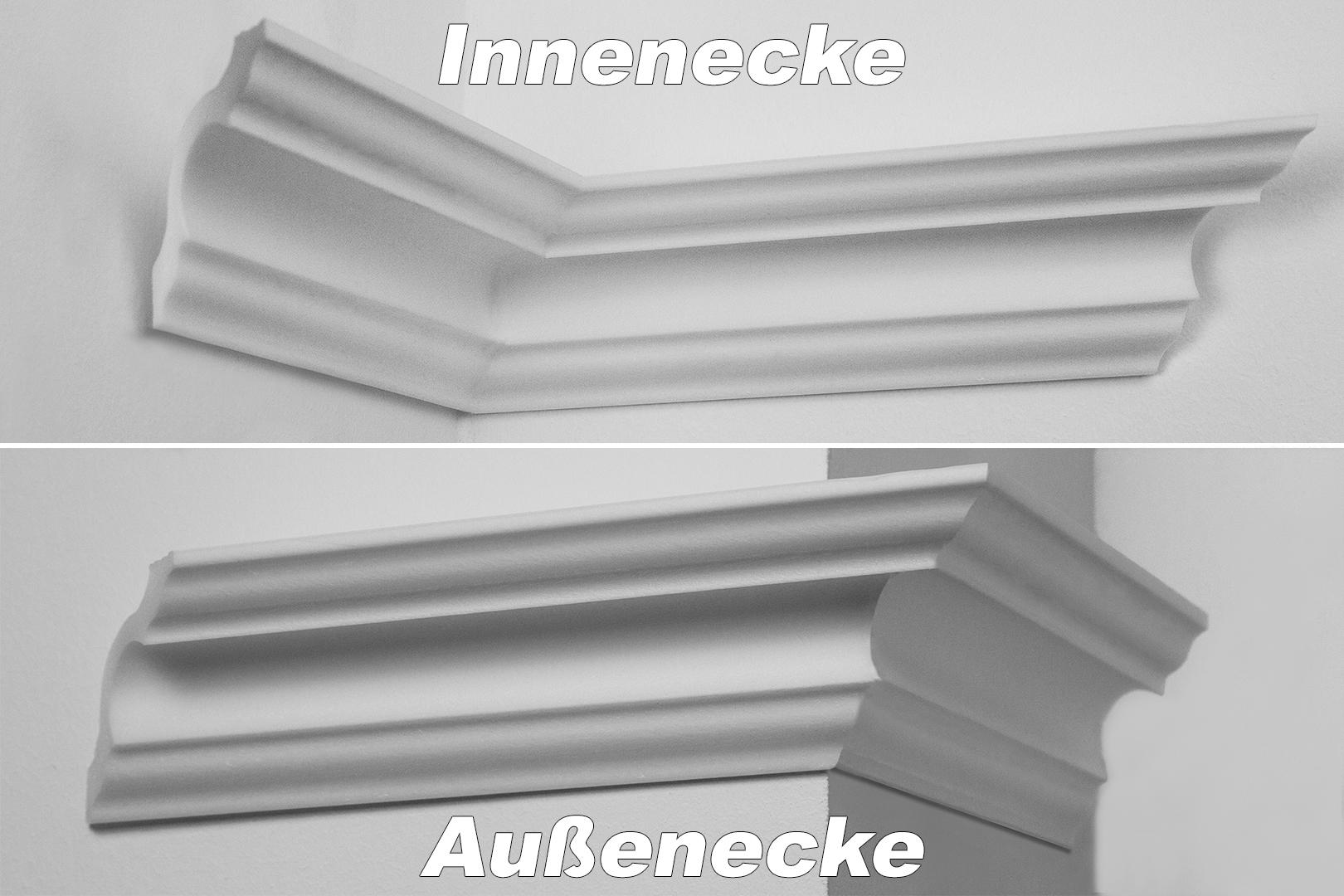 Innenecke Au/ßenecke Innendekor f/ür Stuckleiste Decora Zierleiste NK-D Modell:NK-DG50