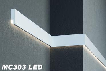 [Sparpaket] 10 Meter LED Fassadenprofile Haus Lichtleisten stoßfest 110x30mm, MC303 LED