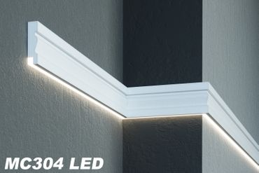 [Sparpaket] 20 Meter LED Wandprofile Fassadendekoration Haus stoßfest 125x35mm, MC304 LED