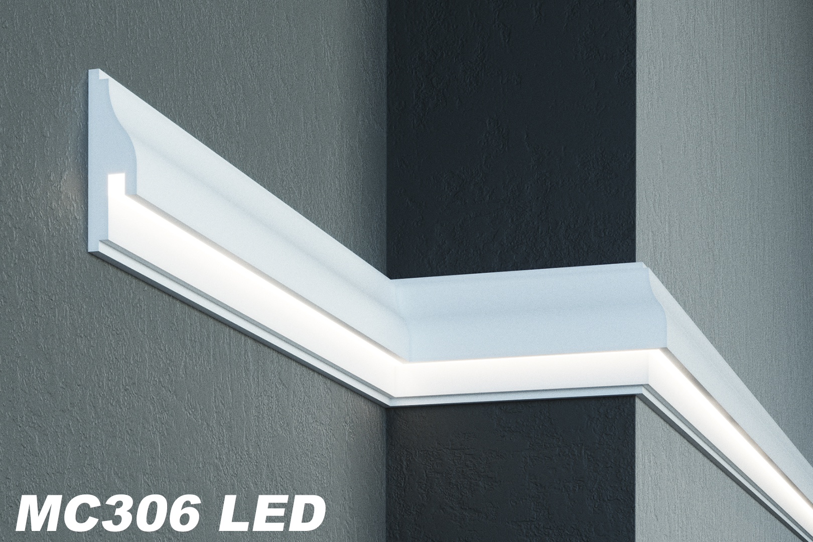 Paket 20 meter led fassadenprofile indirekte beleuchtung sto fest 170x55mm mc306 led hexim - Indirekte wandbeleuchtung ...