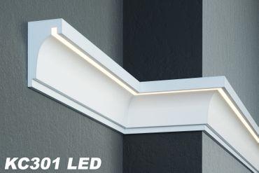 [Sparpaket] 20 Meter LED Gesimsprofile Fassade Lichtleisten stoßfest 190x120mm, KC301 LED