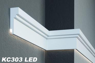[Sparpaket] 20 Meter LED Gesimsprofile indirekte Beleuchtung stoßfest 210x80mm, KC303 LED