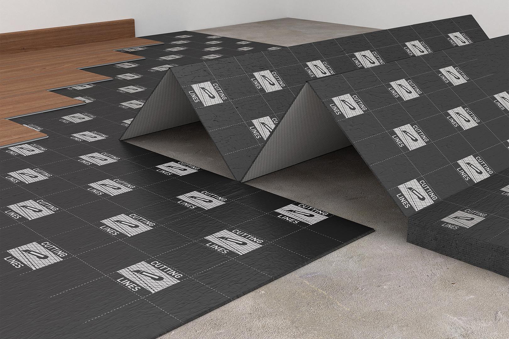 100 m trittschalld mmung f r vinylboden fu bodenheizung. Black Bedroom Furniture Sets. Home Design Ideas