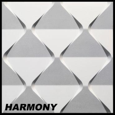 [Sparpaket] 19,5 m² Platten 3D Polystyrol Paneele Wand Decke Dekoration 60x60cm, HARMONY