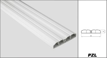 [Paket] 100 Meter PVC Zaunlatten Kunststoff Profile Bretter Gartenzaun 80x16mm, PZL-01