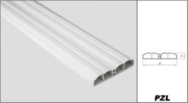 [Paket] 100 Meter PVC Zaunlatten Kunststoff Profile Bretter Gartenzaun 80x16mm, PZL-17