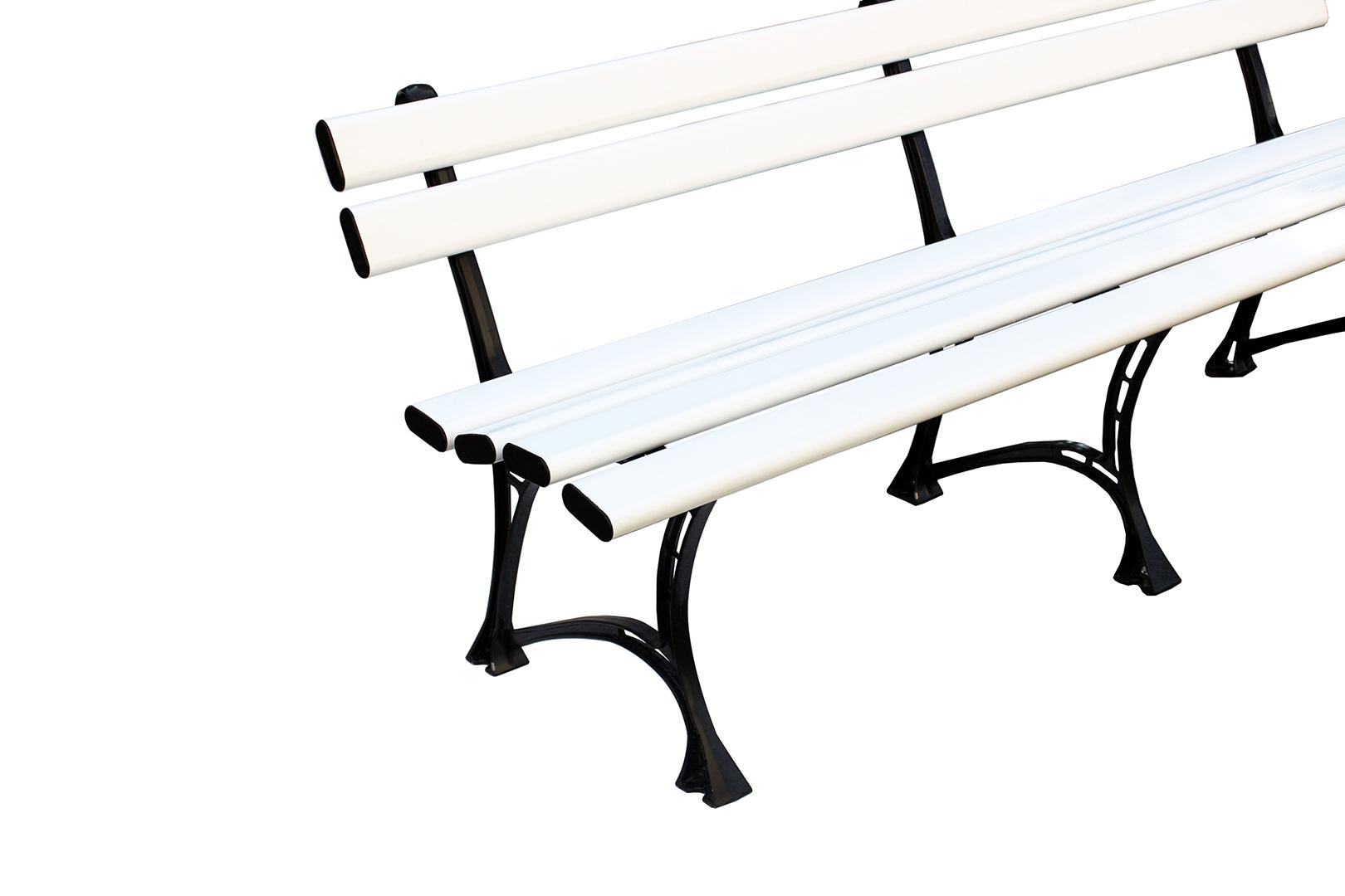 Sitzbank Kunststoff PVC Gartenbank Möbel Außenbereich 200x75x45 cm, HARMONY