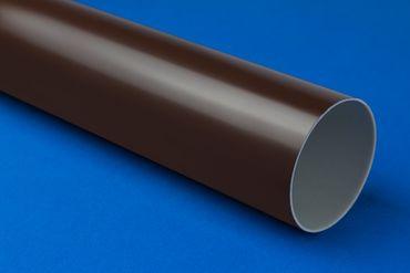[Sparpaket] 10 Meter PVC Fallrohre RainWay Regen System Regenrohr Ø75mm FALLROHR braun