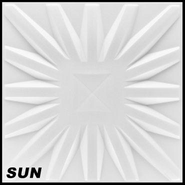 1 m² Platten 3D Polystyrol Wand Decke Paneele Wandplatten 50x50cm, SUN