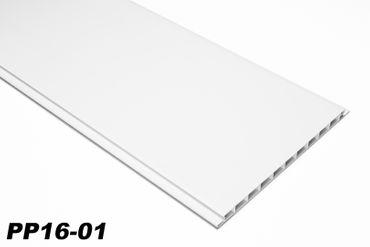 [Paket] 10 m²  PVC Paneele Bretter Platten Wandverkleidung 200x16cm PP16-01 weiß