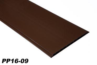 [Paket] 10 m² PVC Paneele Bretter Platten Wandverkleidung 200x16cm PP16-09 braun