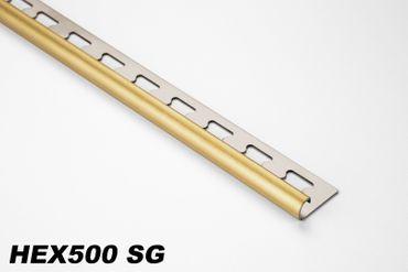 [Paket] 50 Meter Edelstahl Rund-Form Viertelkreisprofil Fliese gebürstet 10mm HEX500 SG