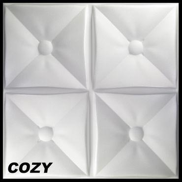 [Sparpaket] 10 m² Platten 3D Polystyrol Wand Decke Paneele Wandplatten 50x50cm, COZY