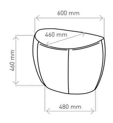 Designer Sitzpouf ONLY Lounge Pouf Hocker Fußstütze Mikrofaser TOKYO